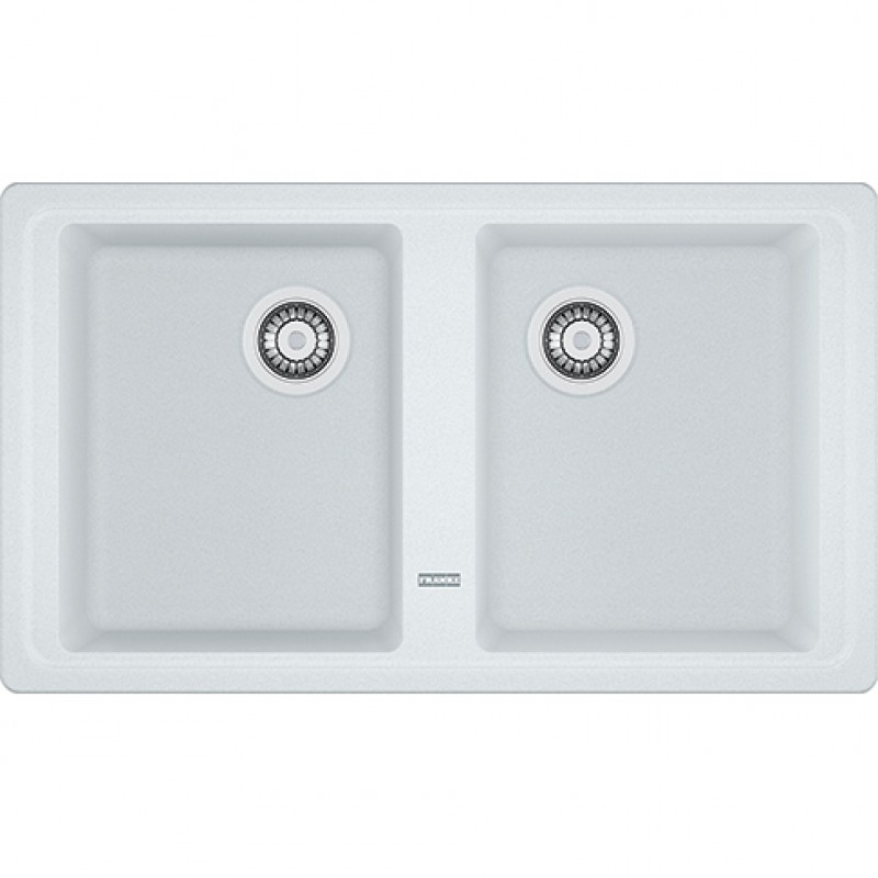 FRANKE lavello Boston BFG 620 Bianco Fragranite 86x50 2 vasche